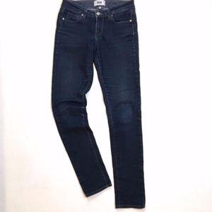 Paige Dark Wash Skinny Slim Jeans Size 26 A009